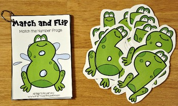 Matching Activities:  Frogs and Turtles Match and Flip Books