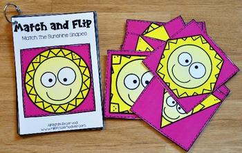 Matching Activities:  Sunshine Match and Flip Books