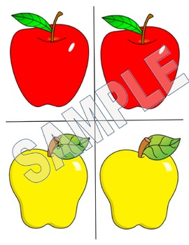 Matching Apples  - Color Matching Activity