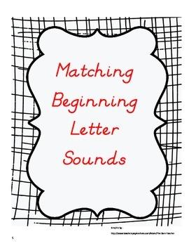 Matching Beginning Letter Sounds Assessment