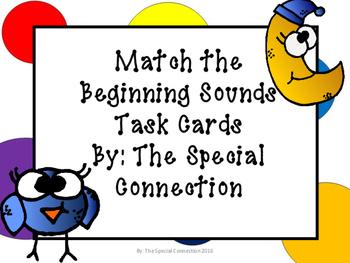 Matching Beginning Sounds Task Cards