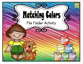 Colors File Folder Activity