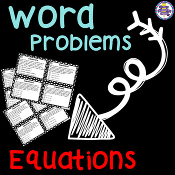 Matching Equations to Word Problems Task Cards (CC Aligned