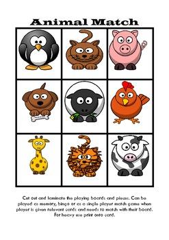 Matching Game / Bingo (Autism, ABA, Literacy, Early Childh