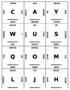 Matching Game - Fractions - Simplifying 3