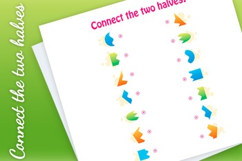 Matching Game - connect the two halves of geomenric shapes