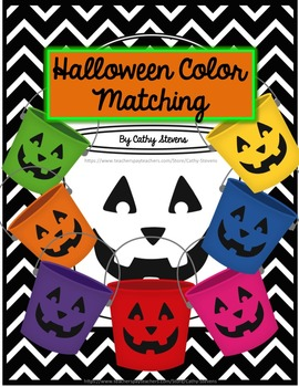 Matching Halloween Colors - Interactive and Adaptive