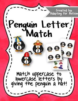 {Freebie} Letter Matching: Uppercase and Lowercase - Pengu