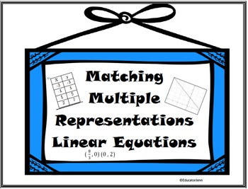 Matching Multiple Representations Linear Equations