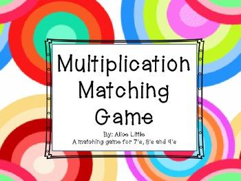 Matching Multiplication Game