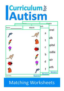 Autism, Matching Nouns, Vocabulary, Special Education, Spe