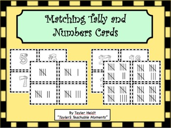 Matching Number and Tally Cards