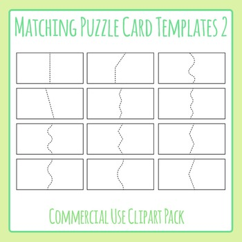 Matching Puzzle Card Templates 2 for Matching Games Clip A