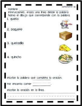 Matching Qu in Spanish