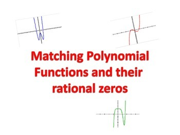 Matching- Rational Zeros Theorem