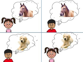 Matching Sight Word Sentences to Pictures: TWO