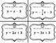 Matching / Task Cards - Standard Form & Slope-Intercept Fo