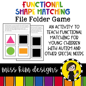 Matching Folder Game : Simple Shapes for students with Autism