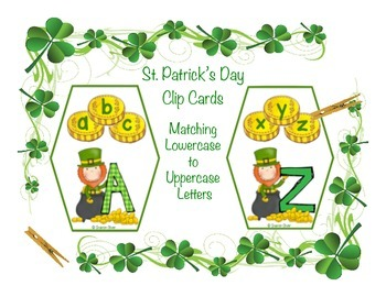 Matching Uppercase and Lowercase Letters - St. Patrick's D