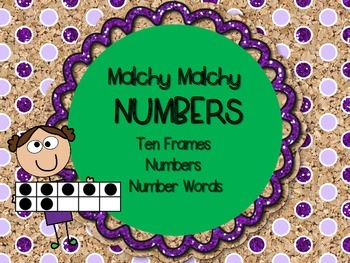 Matchy Matchy Numbers 10 Ten Frames! Numbers 1-20