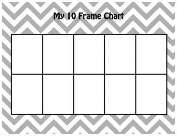 Math 10 & 20 Frame Charts - Grey Chevron