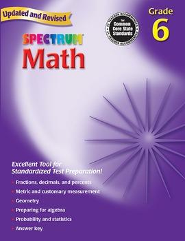 Spectrum Math Grade 6 20% OFF! 0769636969