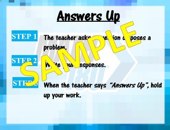 Answers Up - Math 180 Classroom Routine