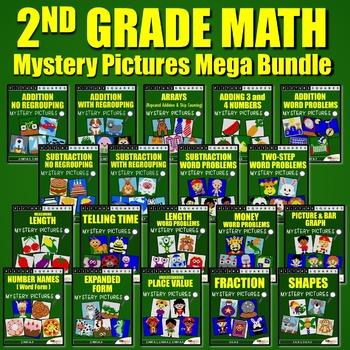 2nd Grade Math Center / 2nd Grade Math Homework Mystery Pi