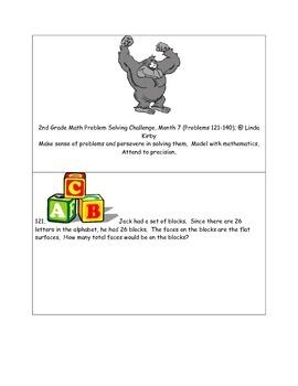 Math-2nd Grade-Month 7: Challenge Problem Solving (Questio