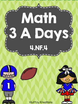 Math 3 A Days- Daily Math Practice-Preview Pack! 4.NF.4
