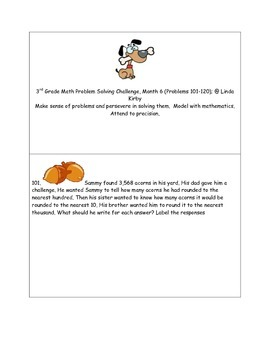 Math-3rd Grade-Month 6:Challenge Problem Solving (Question