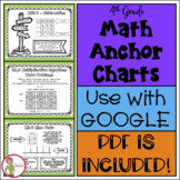 Math 4th Grade ANCHOR CHARTS FOR STUDENTS - BLACK/WHITE