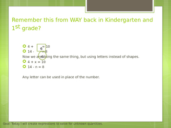 Math 6.EE.A.2 Writing Expressions in Math