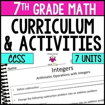 Math 7 Resources Bundle Middle School Math