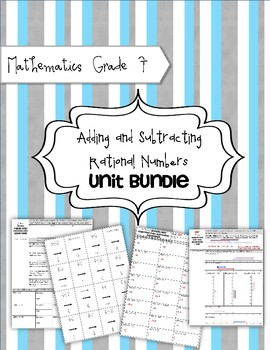 Math 7 Unit Bundle: Adding Rational Numbers: Integers, Fra