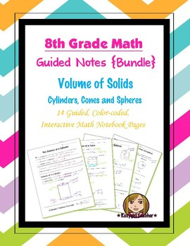 Math 8 Guided Interactive Math Notebook (Bundle): Volume o