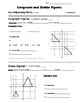 Math 8 Guided Interactive Math Notebook Page: Congruent an