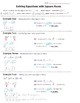Math 8 Guided Interactive Math Notebook Page: Simplifying