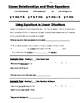 Math 8 Guided Interactive Math Notebook Page: Slope-interc