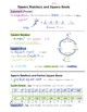 Math 8 Guided Interactive Math Notebook Page: Square Roots