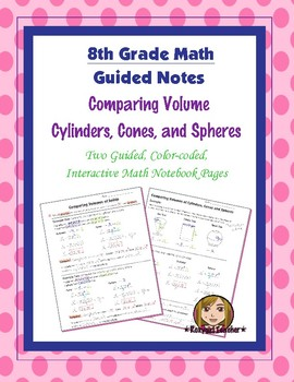 Math 8 Guided Interactive Math Notebook Pages: Finding and