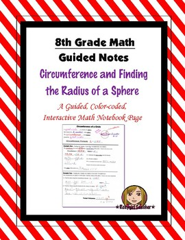 Math 8 Guided Interactive Math Notebook Pages: Finding the