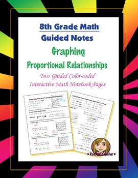 Math 8 Guided Interactive Math Notebook Pages: Proportiona