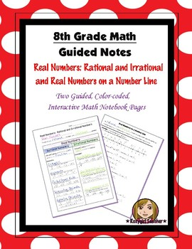 Math 8 Guided Interactive Math Notebook Pages: Real Numbers