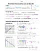 Math 8 Guided Interactive Math Notebook Page: Line of Best