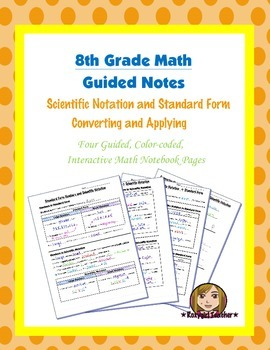 Math 8 Guided Interactive Math Notebook Pages: Scientific