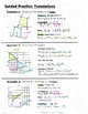 Math 8 Guided Interactive Math Notebook Pages: Transformat