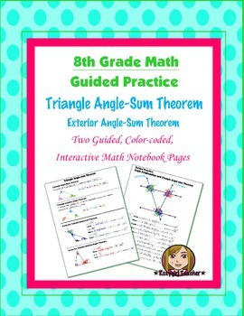 Math 8 Guided Interactive Math Notebook Pages: Triangle An