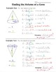 Math 8 Guided Interactive Math Notebook Page: Volume of a Cone