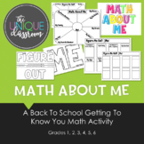 Math About Me - A Back to School Getting to Know You Math
